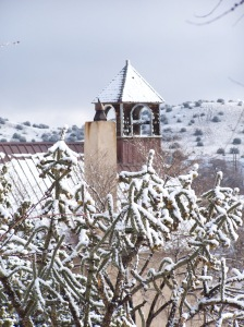 Steeple in Snow