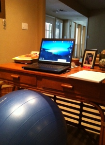 Ball at Desk