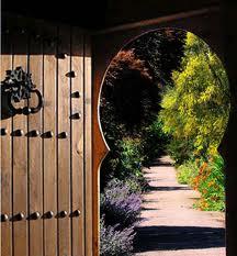 wooden open door