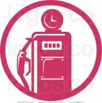 royalty-free-vector-logo-of-a-retro-pink-fuel-pump-by-patrimonio-743