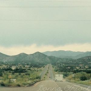 Following the bike trailer into Santa Fe.